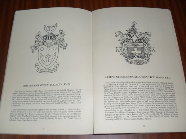 THE HERALDIC REGISTER OF AMERICA. Volume One Revised